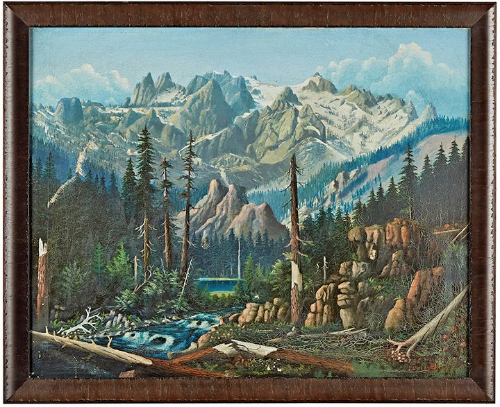 Detailed Oil Landscape Painting by Lockery