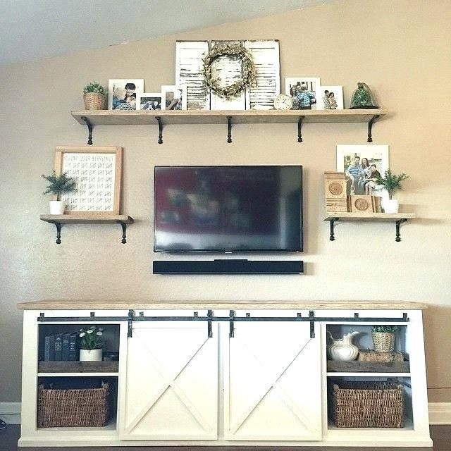 Rustic Farmhouse Stand Media Console Cheap Tv Modern Country