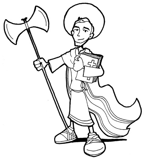 patron saint coloring pages - photo#3