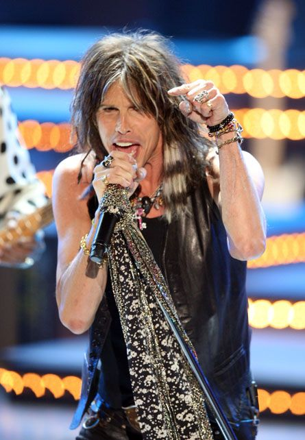 Steve Tyler, Aerosmith...yes, I know he looks better in make-up than I do!  But the heart wants what the heart wants.  Don't judge me.  lol
