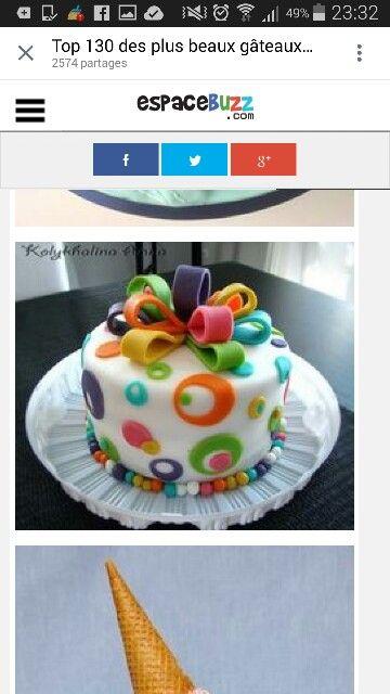 Idée déco gâteau pâte à sucre