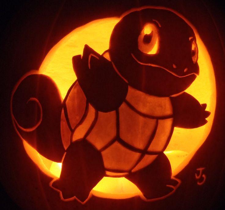 Squirtle pumpkin by johwee on deviantart halloween
