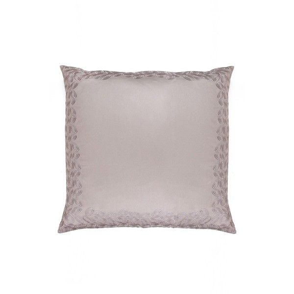 Catherine Malandrino Nautilus Euro Sham ($70) ❤ liked on Polyvore featuring home, bed & bath, bedding, bed accessories, light purple, catherine malandrino, quilted shams, light purple bedding, lavender bedding and lilac bedding