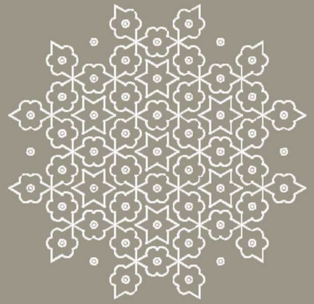 Kolam south indian floor drawings 2 art for Floor rangoli design