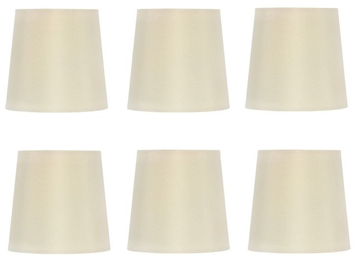 39 99 Us Upgradelights Chandelier Lamp Shade 4 Inch Eggshell Retro Drum Set Of Six Clips Onto