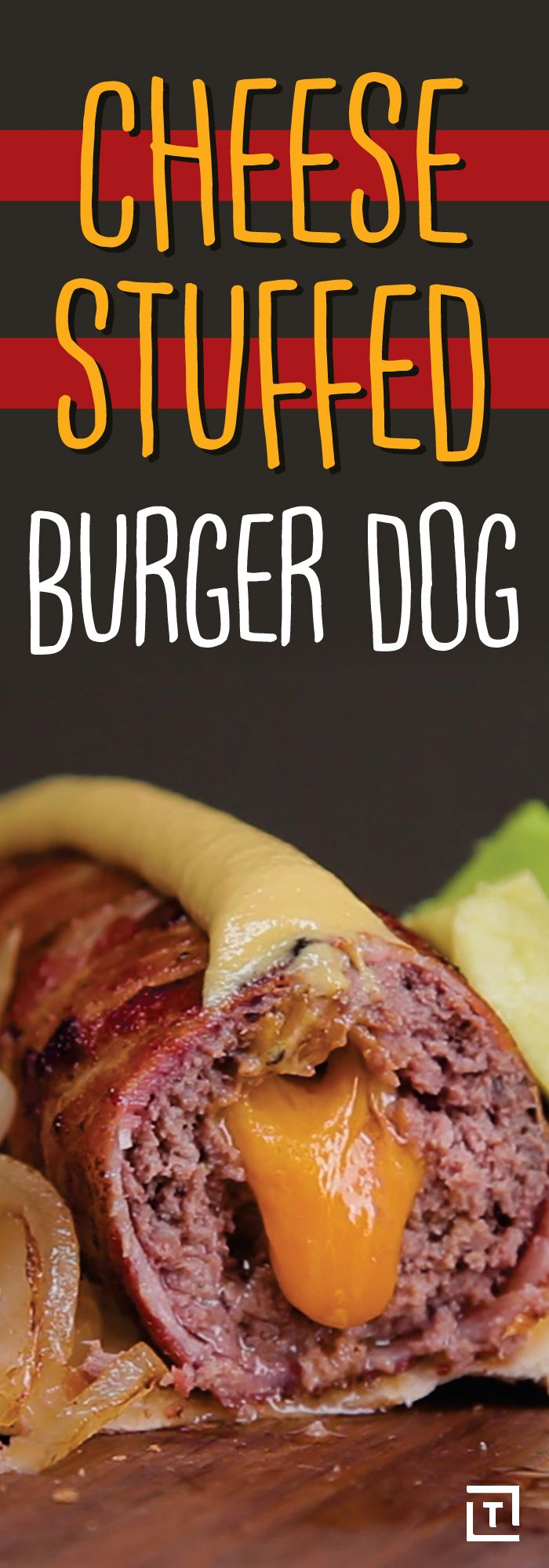 Is it a cheeseburger? Is it a hot dog? Is the fact that we're asking these questions to begin with enough to pique your curiosity (and appetite)? Enter Food Steez's cheese-stuffed burger dogs: the ultimate combination of two American classics in one convenient delivery mechanism.