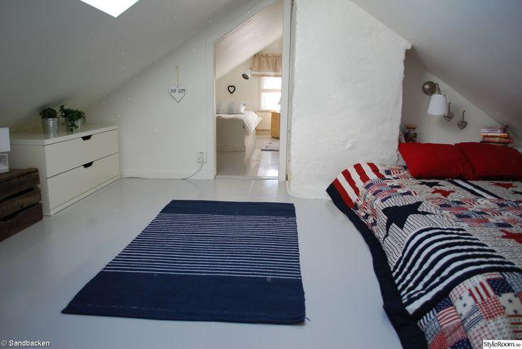 trägolv,takfönster,vindsrummet,sovplats,sovrum,vind,renovera,efterbild,måla trägolv