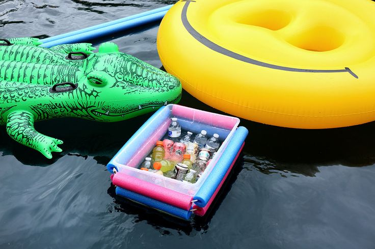 how to make a floating cooler for pool