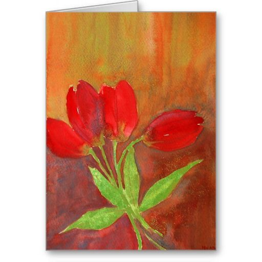 Tulips to cheer you up card