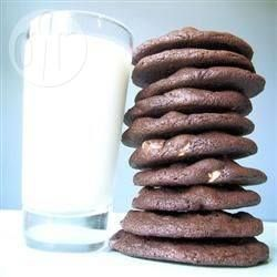Chocoladekoekjes met witte chocola
