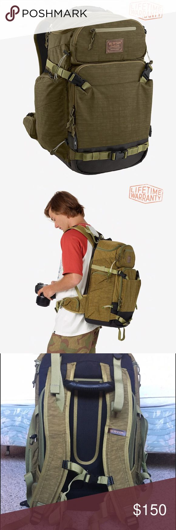 Burton Focus Backpack Never Used! Perfect photography backpack for outdoor  sports. Tons of pockets, laptop compartment, and sturdy. Burton Bags Backpacks