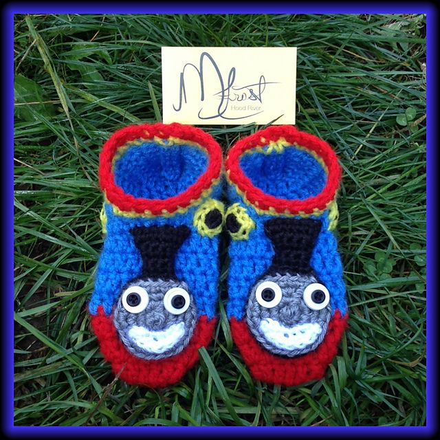 Ravelry: Thomas the Tank Engine Train Slippers pattern by Misty Frost