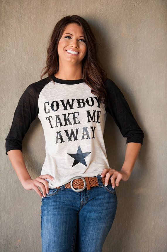 Cowboy take Me Away Alternative Apparel Big by SweetTeeStudio
