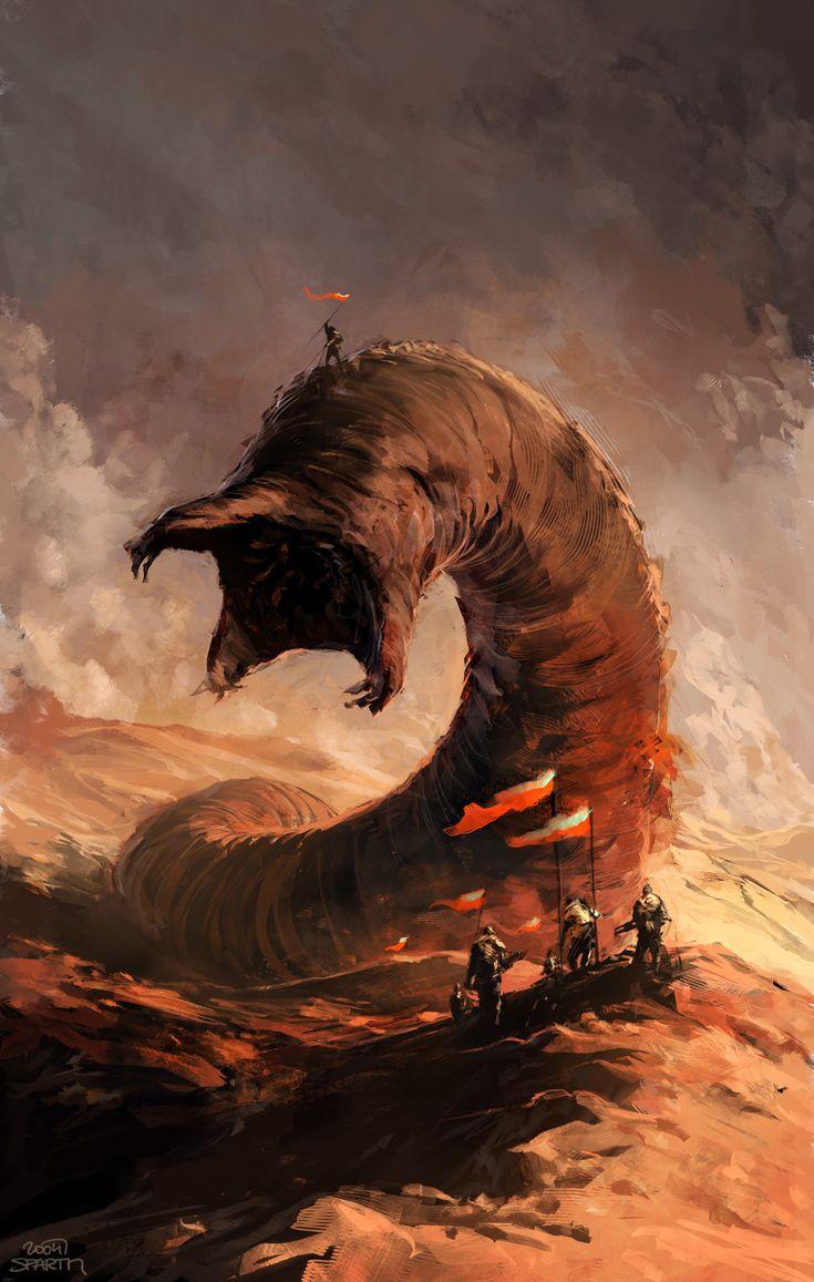 Dune book cover 2004, sparth - nicolas bouvier on ArtStation at https://www.artstation.com/artwork/dune-book-cover-2004