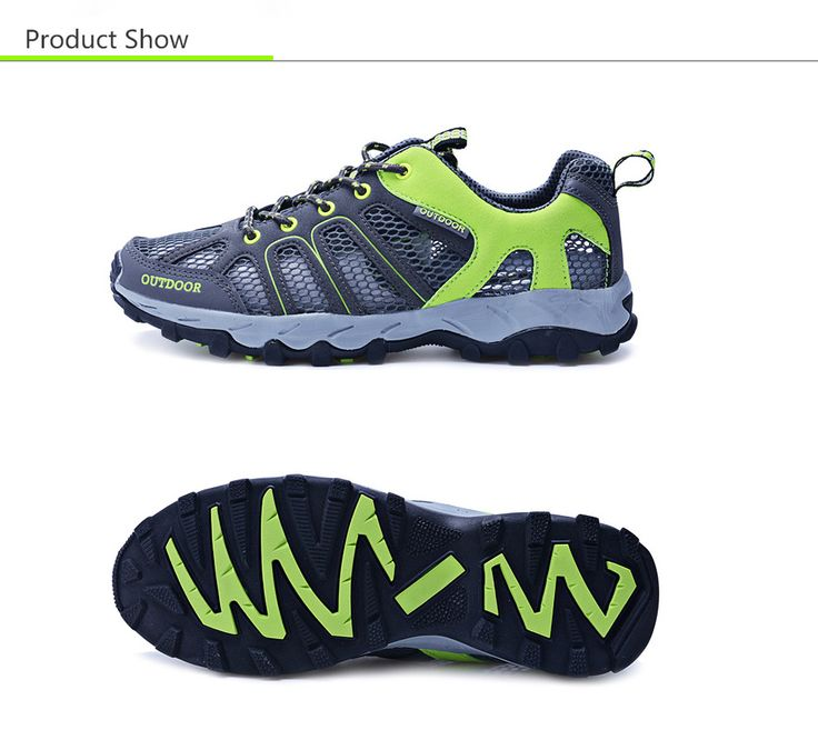 Outdoor Unisex Mountain Climbing Hiking Mesh Sneakers