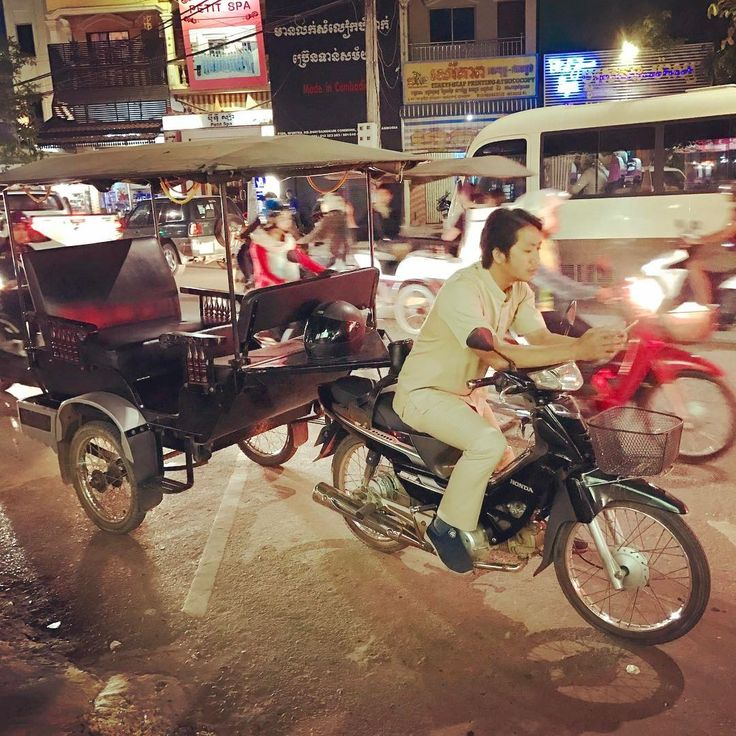 Watch out Bangkok, Cambodia has super charged motorcycle Tuk-Tuks and ladyboys! #thai #tuktuk #Bangkok #Thailand #streetlife #transportation #motorcycle #food #nightmarket #foodblogger #travel #travelblogger #travelfoodcool