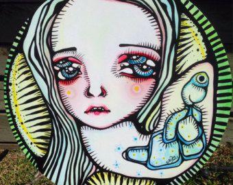 Dewdrop Original Painting by Braidy Hughes by ThePeriwinkleFish