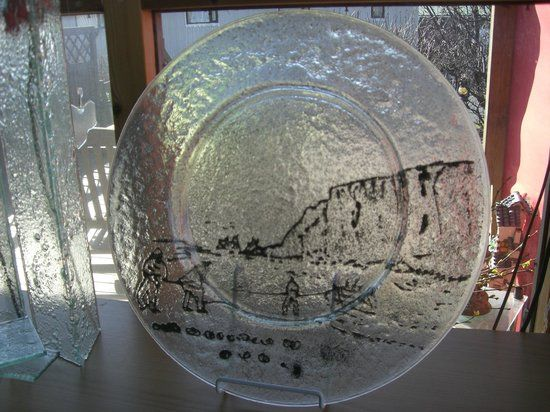Galleri Leirbrot og Gler, Vik Picture: Glass plate with volcanic ash - Check out TripAdvisor members' 5,479 candid photos and videos.