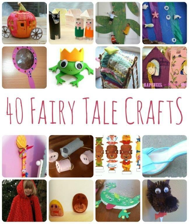 We LOVE LOVE LOVE Fairy Tales... and there is nothing better than soe good Fairy Tale crafts to go with them. Here we have a set of 40 Fairy Tale crafts for you - from Rapunzel Crafts, to Golidlocks Crafts to Cinderella... what is YOUR favourite fairy tale?