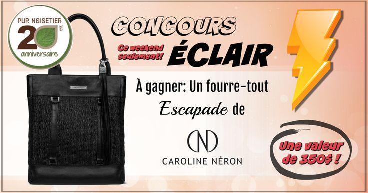 """Courez la chance de gagner un fourre-tout """"Escapade"""" de la collection CAROLINE NÉRON, d'une valeur de 350$! Participez jusqu'au 5 novembre. Bonne chance!"""