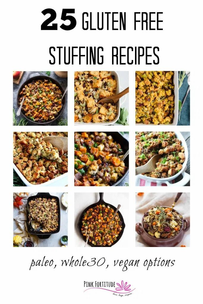 25 Gluten Free Stuffing Recipes Pink Fortitude Llc In 2020
