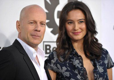 Bruce Willis and Emma Heming at event of Los indestructibles (2010)