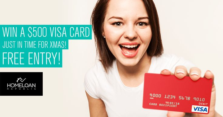 Win a $500 Visa Debit Card!