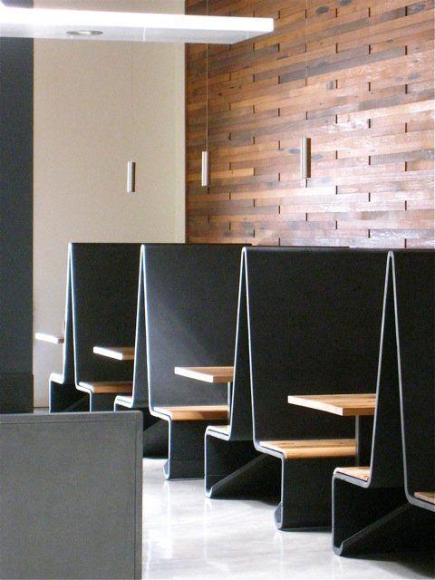 Concreteworks - Oakland, CA, United States. Ductal concrete banquettes for Bar Agricole