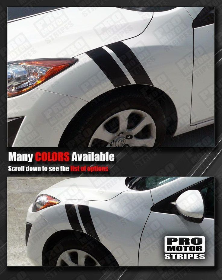 Mazda 3 2009-2013 Racing Fender Hash Side Stripes