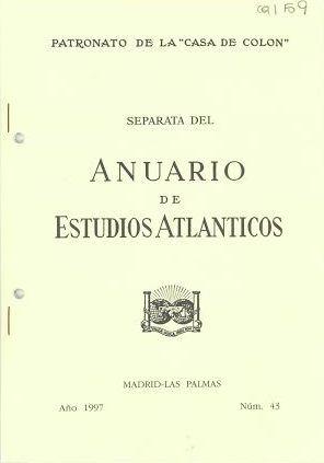 Conocimientos populares en la cultura del vino en Canarias / José Manuel González Gómez Separata de: Anuario de Estudios Atlánticos, n. 43, 1997