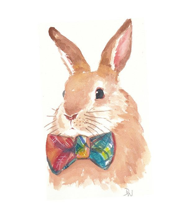 Rabbit Watercolor -WaterInMyPaint shop.