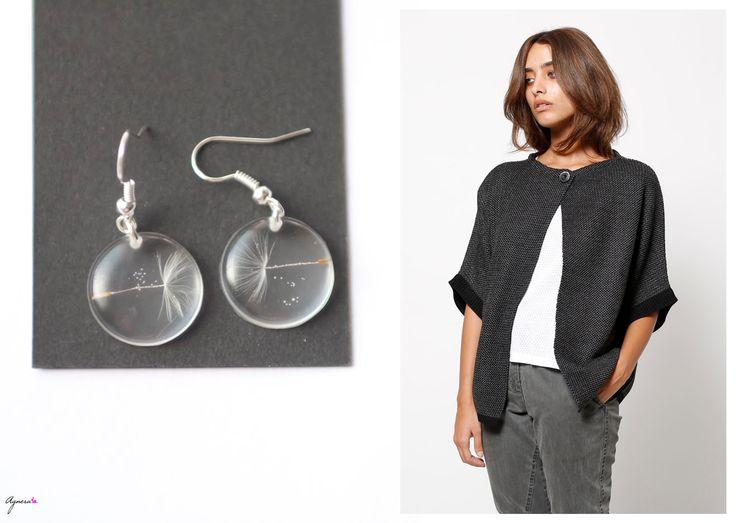 "Dandedlion earrings ""Make a wish"" and black knitted jacket  Jacket https://www.etsy.com/listing/108663980/women-black-knitted-jacket-ladies?ref=shop_home_active_3 Earrings  https://www.etsy.com/listing/156522972/dandelion-earrings-make-a-whish-white?ref=shop_home_active_22 #dandelion #earrings #facket #sweater #knitted #black #women #fashion"