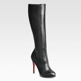 Cute!Shoes, High Heels Boots, Boots Boots, Leather Boots, High Heel Boots, Black Leather, Black Boots, Christian Louboutin, Black High Heels