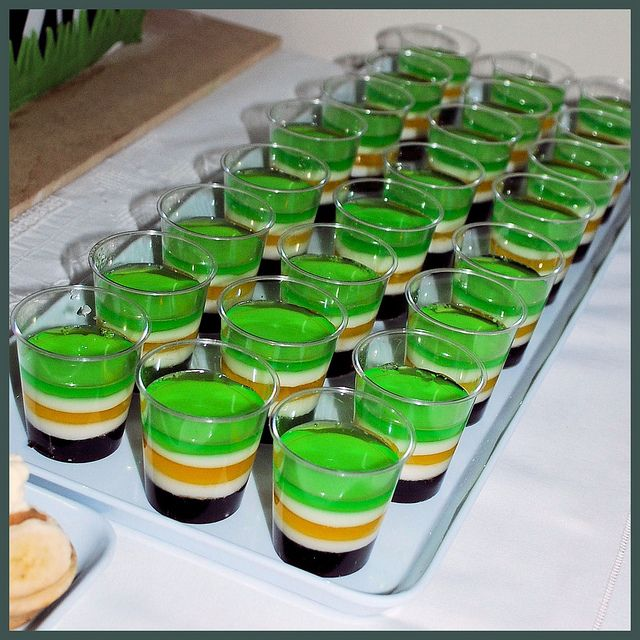 Boys Baby Shower Jungle Themes | Jungle safari baby shower - layered jelly cups | Flickr - Photo ...