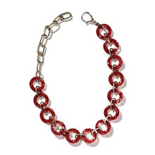Disc Necklace - Red Silk