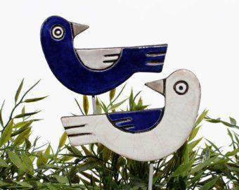 birds garden art plant stakes garden markers garden by GVEGA