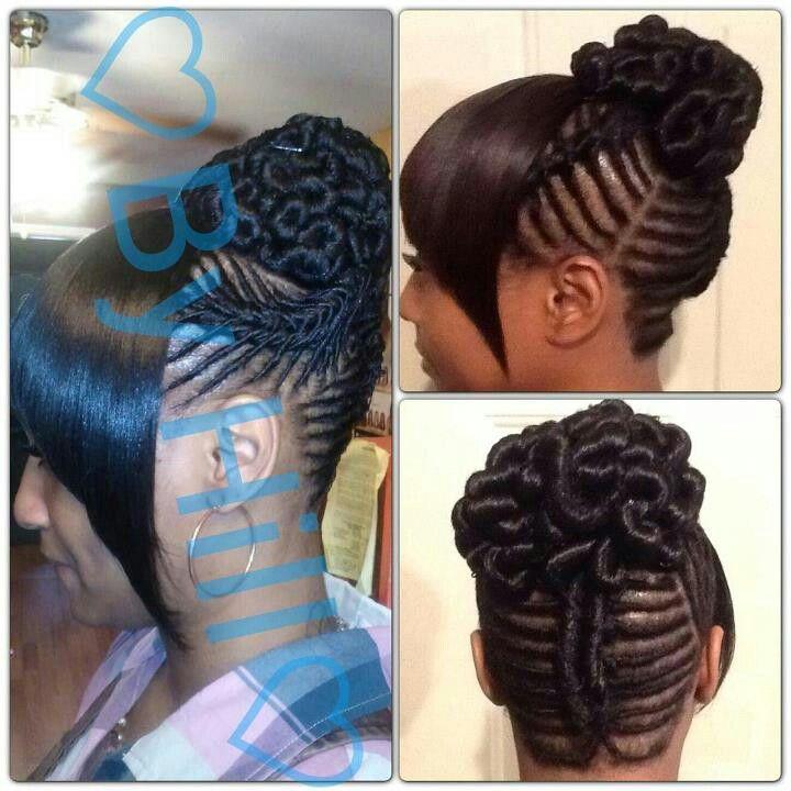 Twist w/ chinese bang | Black hair | Hair styles, Hair ...
