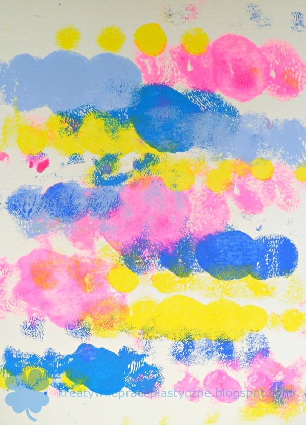 Fun art for kids: stains painting.