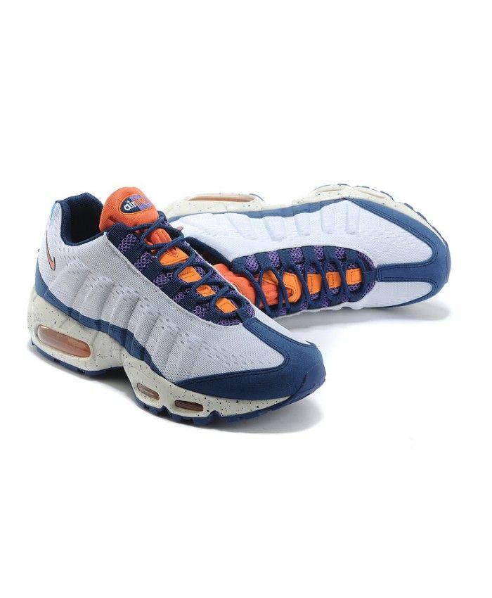 sports shoes 4588e 462b4 Nike Air Max 95 Em Sneaker Royal Blue Grey Orange Trainers