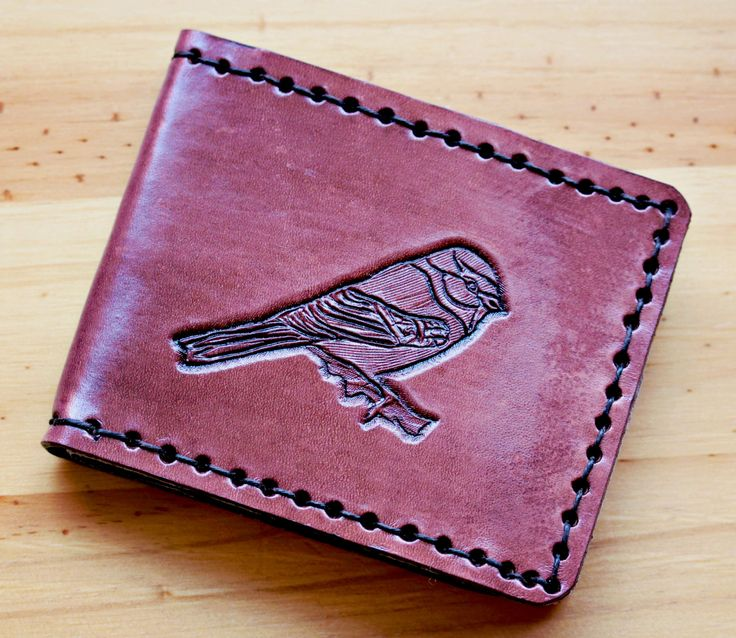 Excited to share the latest addition to my #etsy shop: Bird Hand Carved Leather Wallet, Hand Tooled Leather Card Holder, Leather Bifold Wallet, Mens Bifold Wallets Women, Wallet Gift Father BW155 http://etsy.me/2AlV6HV #accessories #wallet #birthday #christmas #bird #handcarvedle