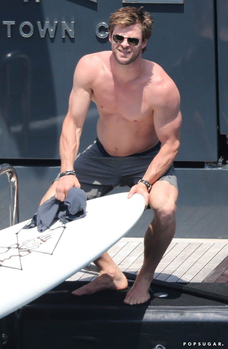 Celebrity & Entertainment | Chris Hemsworth and Elsa Pataky Turn Up the Heat on Their Yacht Vacation | POPSUGAR Celebrity Photo 9