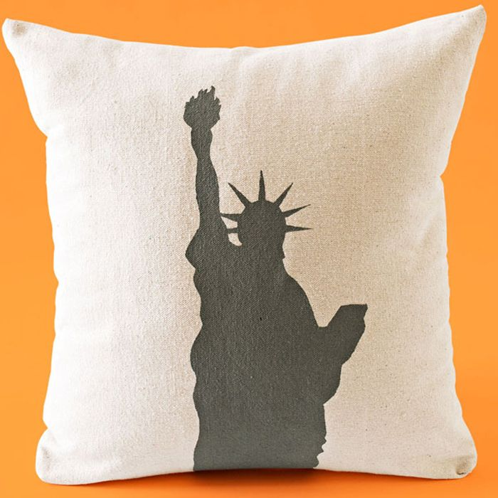 Is it time to switch up your throw pillow? Craft your own urban-inspired graphic pillows with canvas drop cloth and free downloaded stencils by Lowe's.