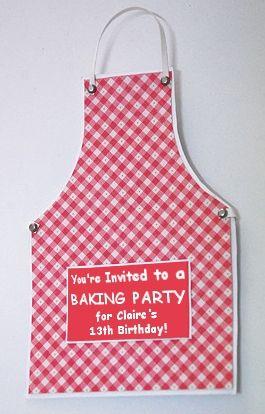 DIY Baking/Cooking Party Invitations bakken en kolen feest verjaardag uitnodiging birthday