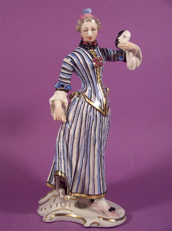 Rarität Nymphenburg Porzellan Figur Colombine Commedia dell´Arte F. A. Bustelli