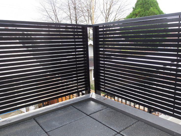 Dek rail horizontal aluminum slat privacy deck railing