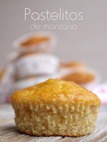 Esponjosos y suaves pastelitos con el riquísimo sabor a manzana que los hace deliciosos. Pastelitos de manzana Ingredientes :...