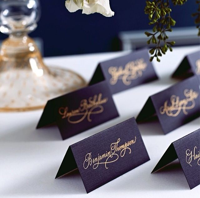 Black n Gold place cards