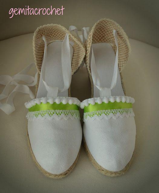 GEMITA CROCHET : zapatillas de esparto