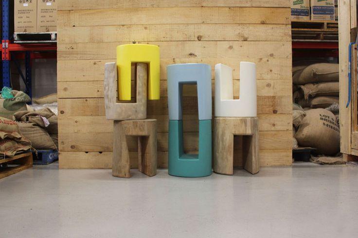 Australian designer Darcy Clarke. #stools #seating #colour #simple #design #quirky