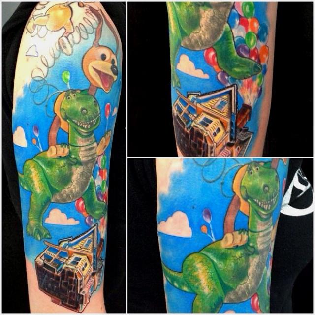 Story Sleeve Tattoo: Disney Pixar Tattoo Sleeve Up Toy Story